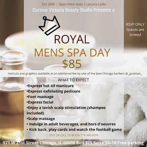 Men's Spa Day this Sunday!! for Sale in Chicago, IL