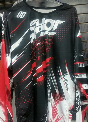 Dirt bike jersey mx motocross NEW Large red black SHOT ALL RIDER GEAR for Sale in San Diego, CA