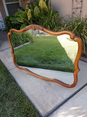 """VINTAGE WOODEN DECORATIVE WALL MIRROR (50""""W × 33""""H) for Sale in Corona, CA"""