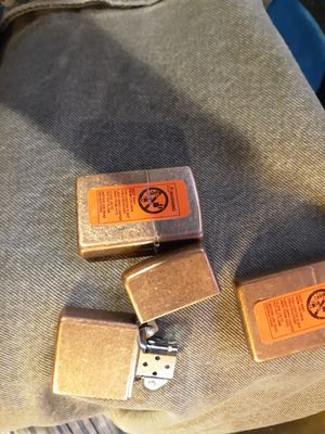 Three Brass Zippos for Sale in Aurora, CO