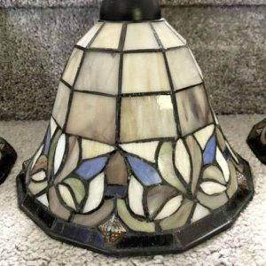 3 Light Fixture Ceiling Pendant Tiffany Style Stained Glass Shade Kitchen Island Pool Table Lightening With Its Track for Sale in Chapel Hill, NC