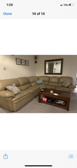 Perfect Leather Couch for Sale in Poway,  CA