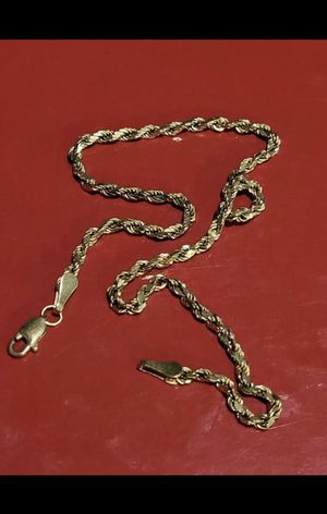 14k solid gold bracelet/anklet 3mm 9inch for Sale in Lowndesboro, AL