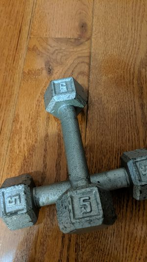 Weights 5lb dumbbells Set for Sale in Ellicott City, MD