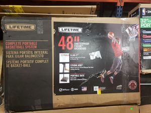 """Lifetime 48"""" Adjustable Portable Basketball Hoop $125 FIRM for Sale in Redlands, CA"""