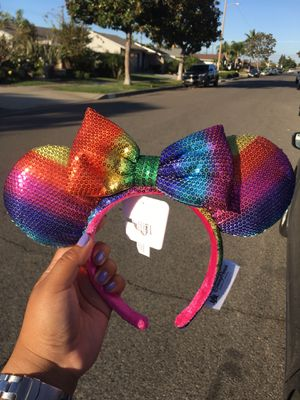 BRAND NEW AUTHENTIC MINNIE MOUSE DISNEY EARS RAINBOW for Sale in San Diego, CA