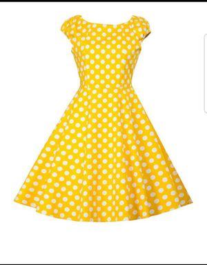 Halloween 50s Yellow Polka Dotted Dress Costume for Sale in Atlanta, GA