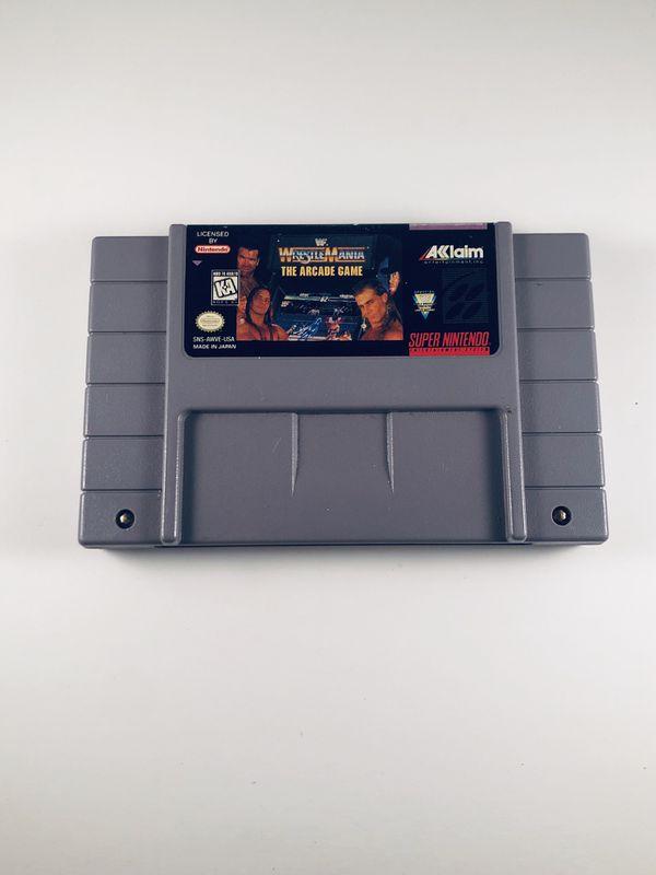 Wwf Wrestlemania arcade game Super Nintendo snes