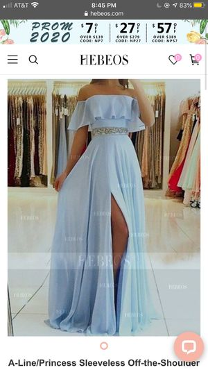 prom dress (sky blue) off the shoulder for Sale in Raleigh, NC