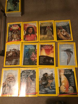 National Geographic Magazines 1973 (all 12) for Sale in Winston-Salem, NC