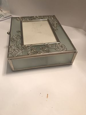 Antique Silver and Glass Jewelry Box for Sale in Smoke Rise, GA
