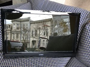 "23"" coby black flat screen tv for Sale in San Francisco, CA"