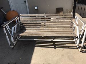 Outdoor swing chair with 1 small piece of wood missing for Sale in Sacramento, CA