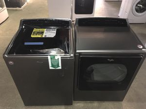 Whirlpool 5.3 cu ft cabrio set!! Take home $50 today 90 days same as cash... over $2200 retail cost for Sale in Houston, TX
