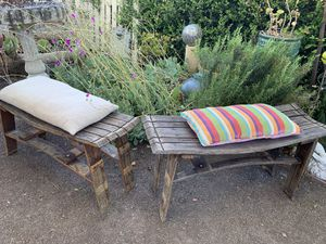 2 Rustic barrel benches for Sale in San Jose, CA