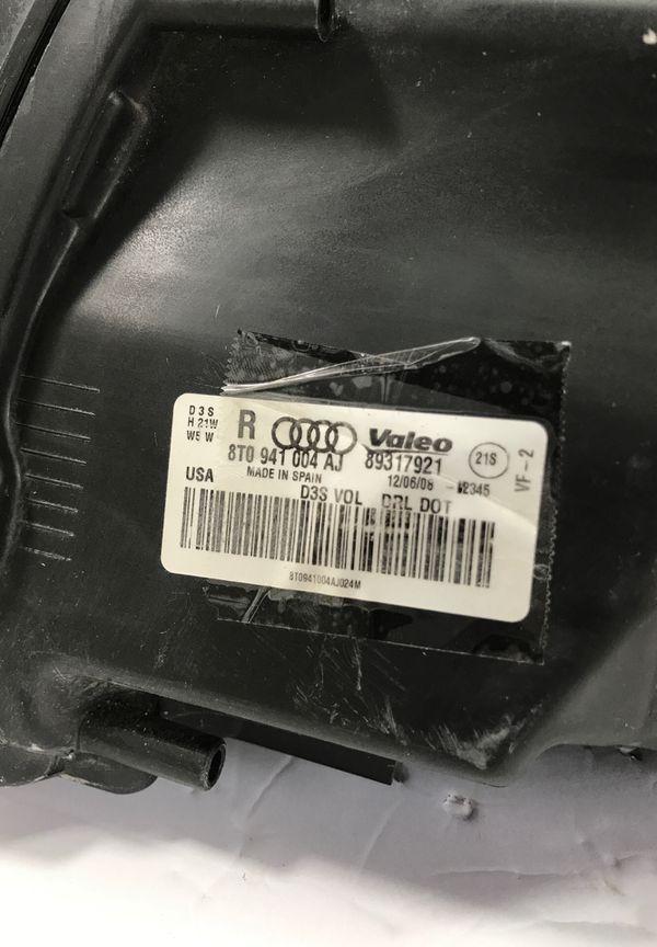 2008 2009 2010 2011 2012 AUDI A5 S5 Right Side Adaptive Headlight OEM