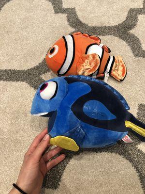 Nemo and Dory stuffed animals for Sale in Rochester, MI