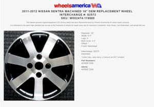 """16"""" Black and Silver wheels rims for Sale in TWN N CNTRY, FL"""