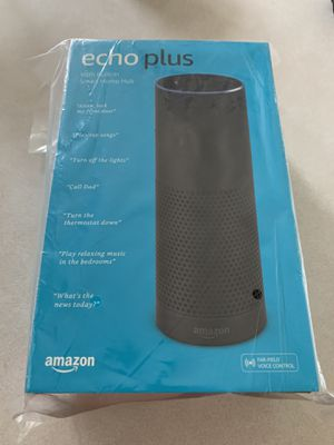 Amazon Echo Black Plus Bluetooth Speaker Alexa Enabled 1st Generation (BRAND NEW) for Sale in Hanover Park, IL