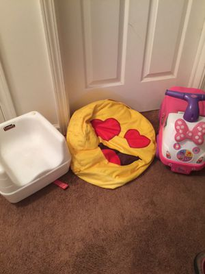 Pink Riding Toy Bean Bag And Chair Seat for Sale in Hiram, GA
