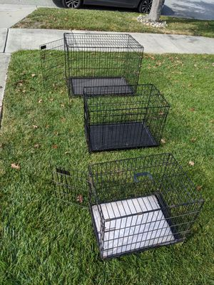 Three Dog Crates -3 sizes for Sale in Gilroy, CA