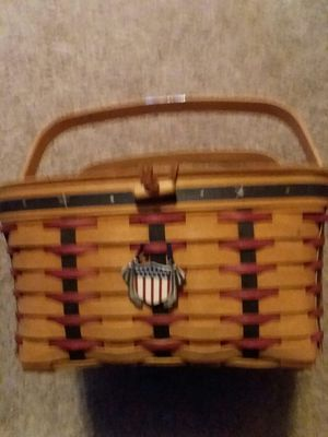 Longaberger 2003 Proudly American Picnic Basket for Sale in Portsmouth, VA