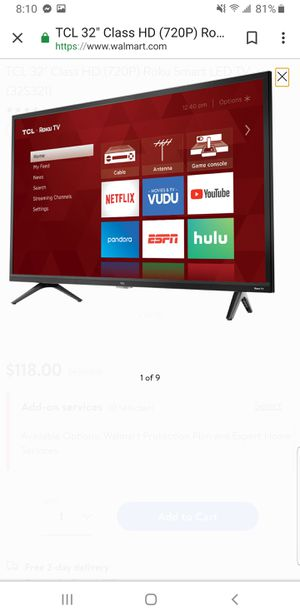 Two 32 in tcl roku TVs for Sale in Miami, FL