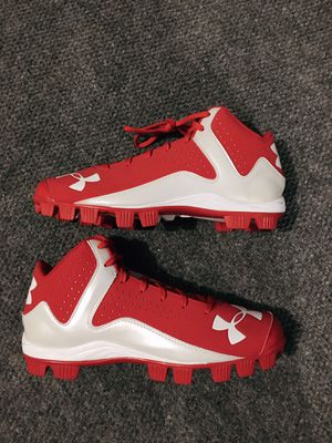 Baseball cleats red size 11 for Sale in Campbell, CA