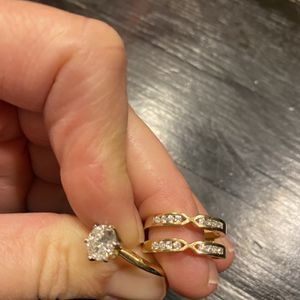Diamond Engagement Ring And Wedding Band Set for Sale in Golden, CO