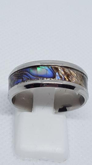 Stainless steel abalone shell Rings. Sizes 6 through 11 for Sale in St. Louis, MO