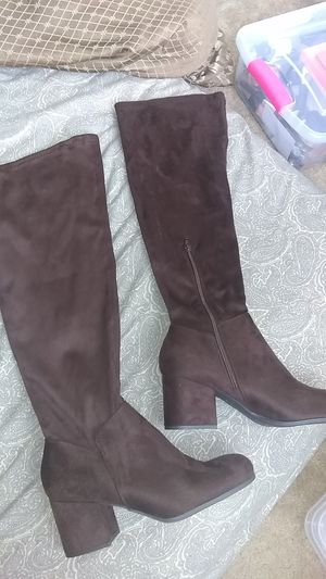 Christian Siriano Thigh High Boots shoe size is 12W Brown Suede for Sale in Philadelphia, PA