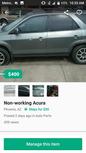 Non-working Acura got potential to run for Sale in Phoenix, AZ