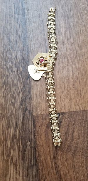 14k bracelet with charms for Sale in Mesa, AZ