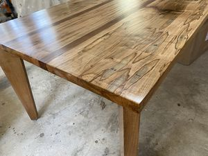 Ambrosia maple and walnut 9 ft dining table for Sale in Leesburg, VA