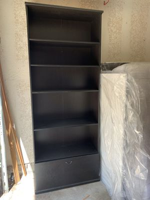 Two Bookcases that double as storage drawer or filing drawer! Set of 2 $100 for the pair Easy pickup for Sale in Redondo Beach, CA