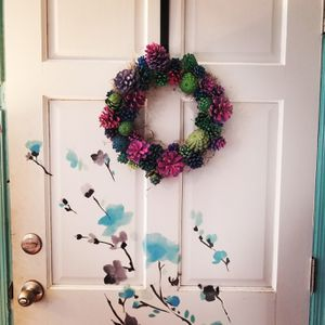 Handcrafted Faux succulent wreath for Sale in Virginia Beach, VA