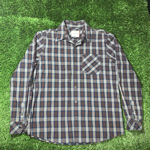 Oakley forged goods long sleeve button up shirt regular fit large plaid for Sale in South Gate, CA