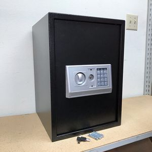 $85 (new in box) digital safe box open with electronic keypad or master key, wall or floor mountable for Sale in Whittier, CA