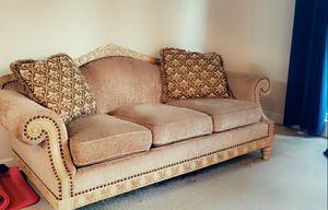 Beige sofa & chair for Sale in UPR MARLBORO, MD