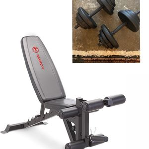 New Workout Bench With Leg Extension + 20LB Dumbbells for Sale in Berkeley, CA