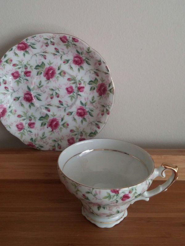 Vintage Lefton China Teacup And Saucer