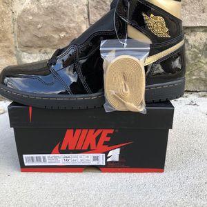 Jordan 1 Retro High Black Metallic Gold for Sale in Germantown, MD