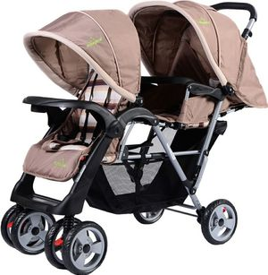 Foldable Twin Double Stroller, Grey for Sale in Alta Loma, CA