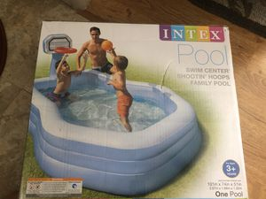 Inflatable Family Pool with Basketball Hoop for Sale in Las Vegas, NV