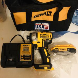 Dewalt impact drill with #2 battery charger and bag new for Sale in Yonkers, NY