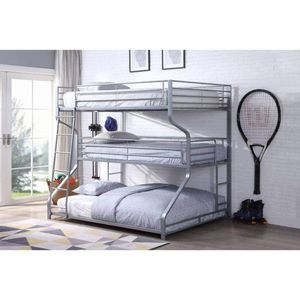 SILVER FINISH METAL FROM TRIPLE BUNK BED TWIN FULL QUEEN SIZE BUNK BED / CAMA LITERAS LITERA for Sale in Riverside, CA