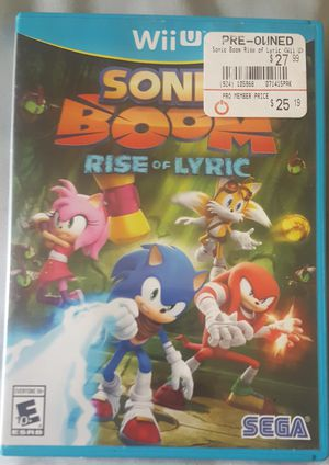 Sonic Boom Rise of Lyric for Nintendo Wii u for Sale in Southampton, PA