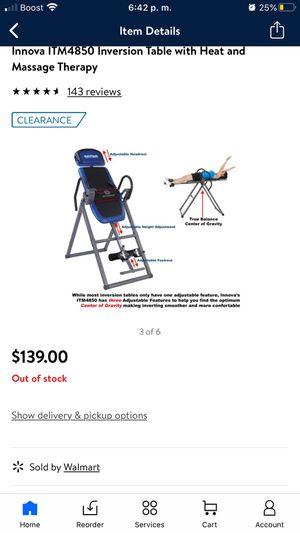 Innova health fitness inversión table for Sale in Anaheim, CA