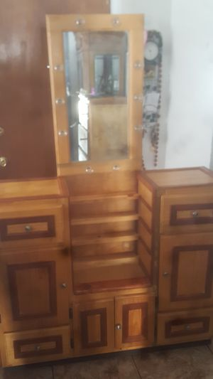 Rustic Vanity with Lighted Mirror for Sale in San Diego, CA