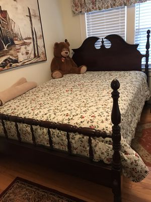 Antique Queen or Full size (adjustable) bed frame - head. Foot board and side rails for Sale in Norwalk, CT